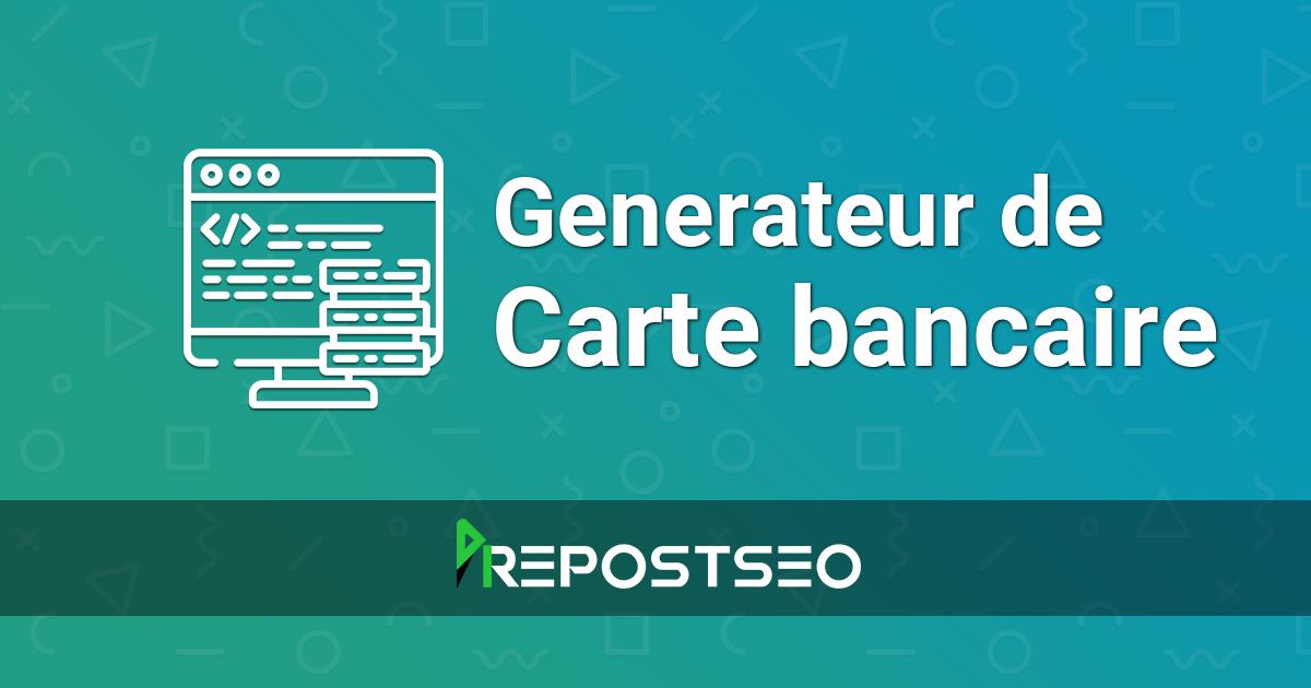 Generateur De Carte Bancaire Numero De Carte Bancaire